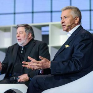 Woz and Dr.Gennady Polonsky. Photo by: The Gate Agency