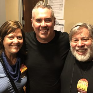 Woz and Janet with Ed Robertson from Bare Naked Ladies